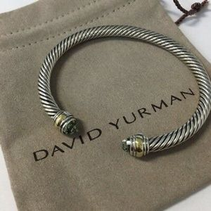 David Yurman 5mm Prasiolite & Gold Bracelet